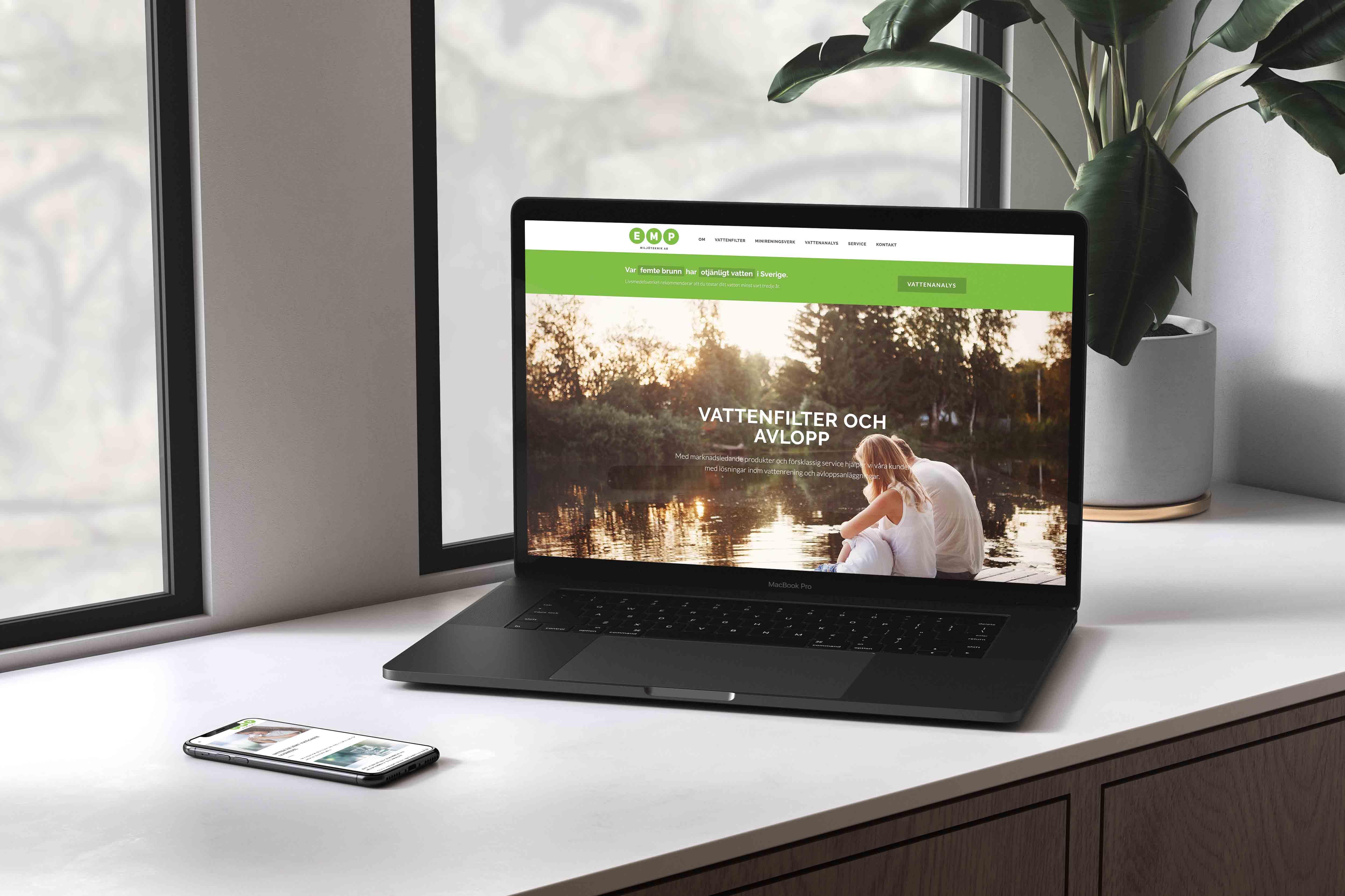 hemsida för företag vattenrening